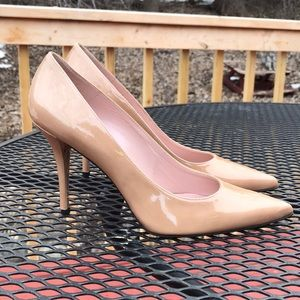 Glossy tan leather Stuart Weitzman 10M Stilettos